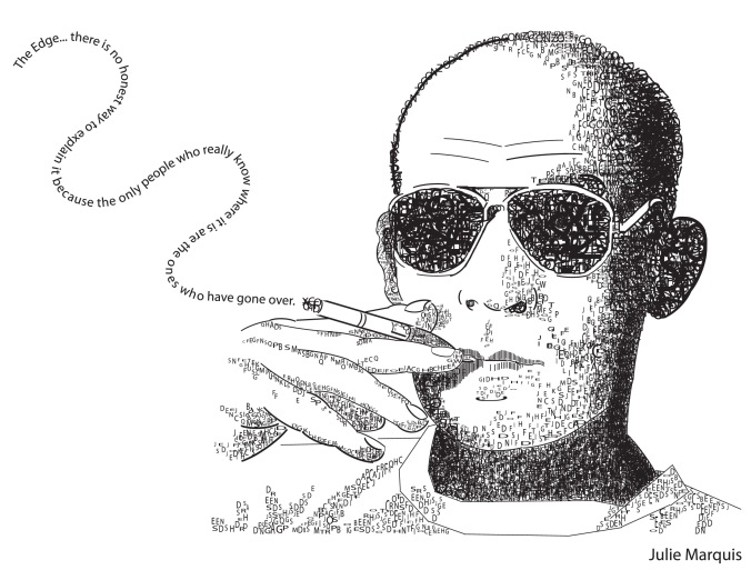Hunter S Thompson Typograpy